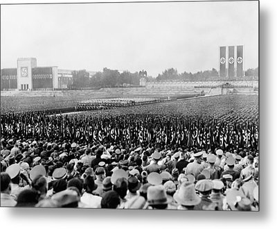 Crowd And Troops At A Massive Nazi Metal Print