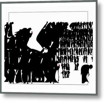 Crowd Metal Print by Olena Kulyk