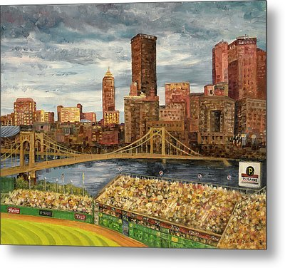 Crowded At Pnc Park Metal Print