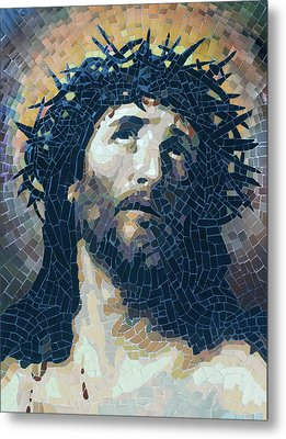 Crown Of Thorns 2 - Ceramic Mosaic Wall Art Metal Print