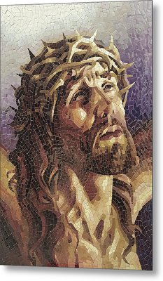 Crown Of Thorns 3 - Ceramic Mosaic Wall Art Metal Print