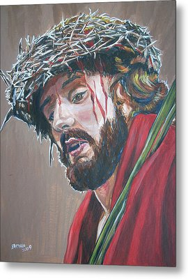 Metal Print featuring the painting Crown Of Thorns by Bryan Bustard