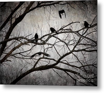 Crows At Midnight Metal Print