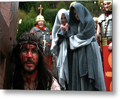 Crucification Metal Print by Keith O Rahilly