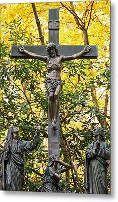 Crucifixion Metal Print by Mitch Cat