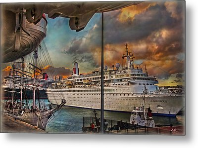 Cruise Port Metal Print by Hanny Heim