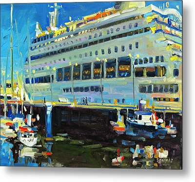 Cruise Ship Metal Print by Brian Simons