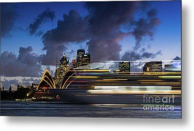 Cruise Ship Sydney Harbour Metal Print