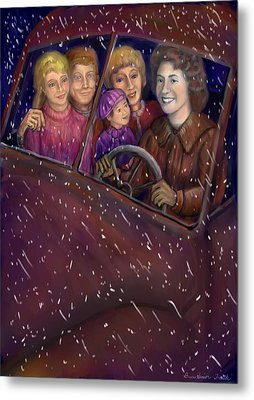 Cruisin' With The Big Kids Metal Print by Dawn Senior-Trask