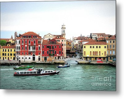 Metal Print featuring the photograph Cruising Into Venice by Mel Steinhauer