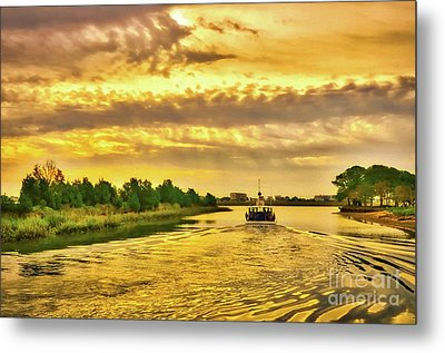 Metal Print featuring the photograph Cruising Out Of Murrells Inlet by Mel Steinhauer