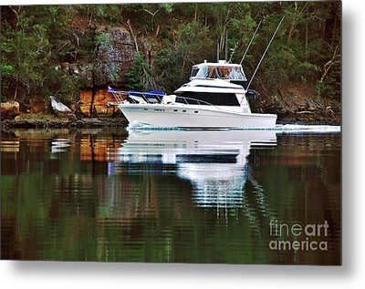 Metal Print featuring the photograph Cruising The River By Kaye Menner by Kaye Menner