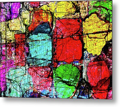 Crumbling Stone Wall Metal Print by Don Gradner
