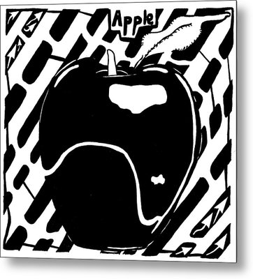Cruncy And Delicious Maze Of Apple Metal Print by Yonatan Frimer Maze Artist
