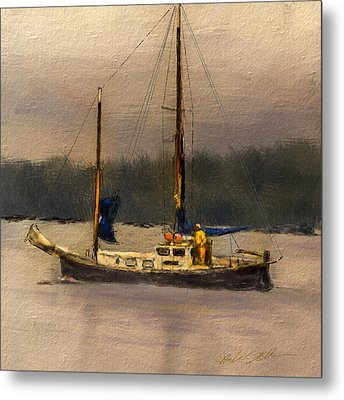 Metal Print featuring the digital art Crusing The Sound by Dale Stillman