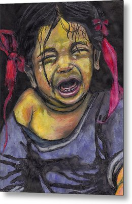 Cry Baby Cry Metal Print by Jean Haynes