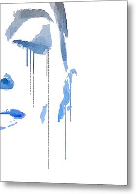 Crying In Pain Metal Print
