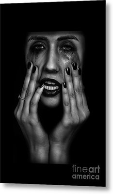Crying Woman Metal Print by Aleksey Tugolukov
