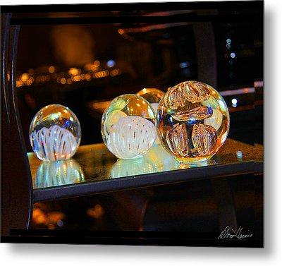 Crystal Balls Metal Print by Diana Haronis