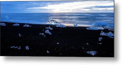 Metal Print featuring the photograph Crystal Beach Iceland by Brad Scott