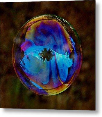 Crystal Bubble Metal Print by Marilynne Bull