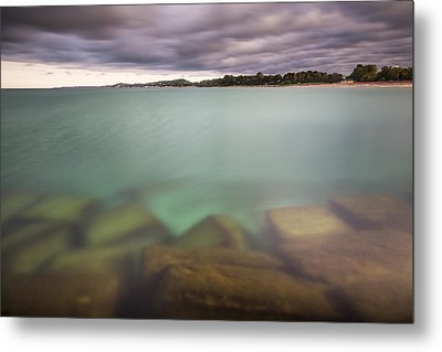 Metal Print featuring the photograph Crystal Clear Lake Michigan Waters by Adam Romanowicz