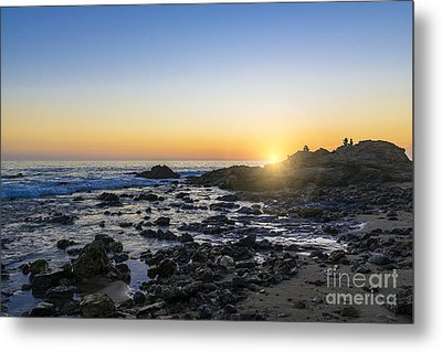 Metal Print featuring the photograph Crystal Cove Sunset by Anthony Baatz