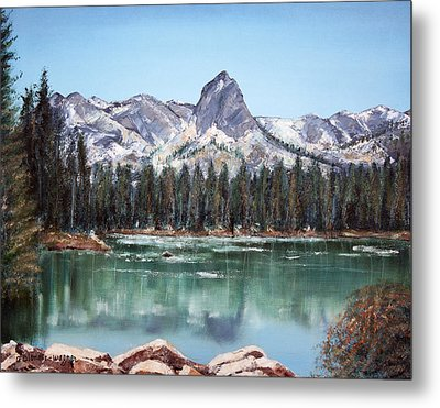 Crystal Crag From Twin Lakes Mammoth Ca Metal Print by Arline Wagner