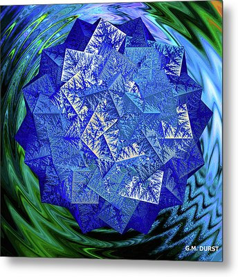 Crystal Energy Metal Print