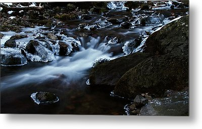 Crystal Flows In Hdr Metal Print