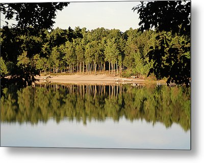 Metal Print featuring the photograph Crystal Lake In Whitehall Mi by Ferrel Cordle