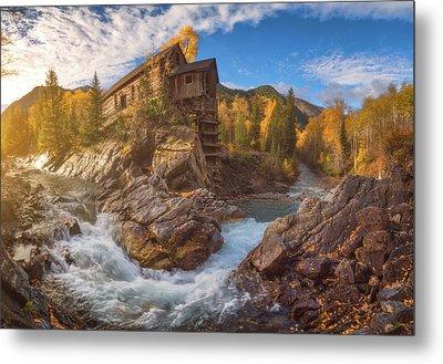 Crystal Mill Fall Sunrise Metal Print by Darren White