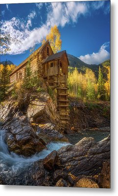 Crystal Mill Morning Metal Print by Darren White
