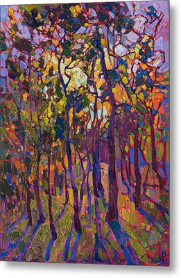 Crystal Pines Metal Print by Erin Hanson
