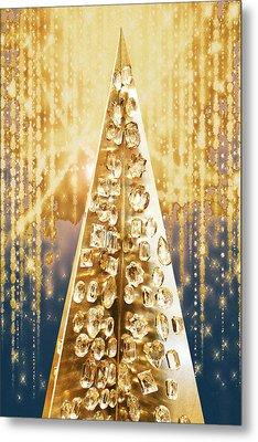 Crystal Tree Metal Print