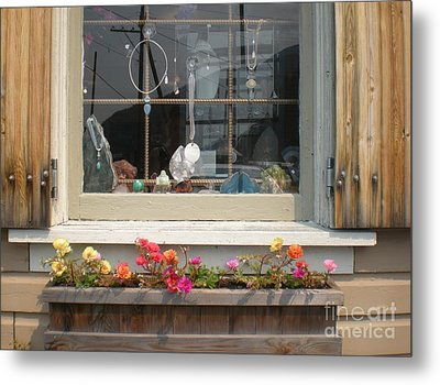 Metal Print featuring the photograph Crystal Window by Kim Prowse