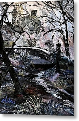 Metal Print featuring the painting Crystals by Helena Bebirian