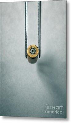 Csi Bullet Shell Evidence  Metal Print by Carlos Caetano