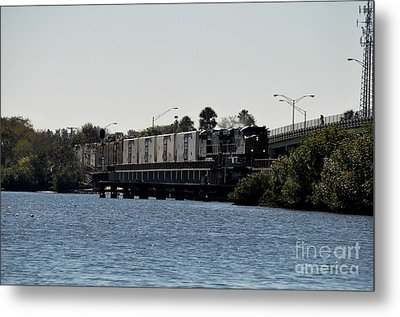 Metal Print featuring the photograph Csx Over The Alafia by John Black