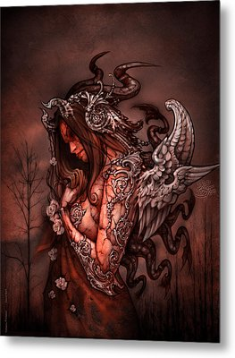 Cthluhu Princess Metal Print by David Bollt