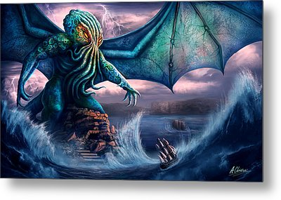 Cthulhu Metal Print by Anthony Christou