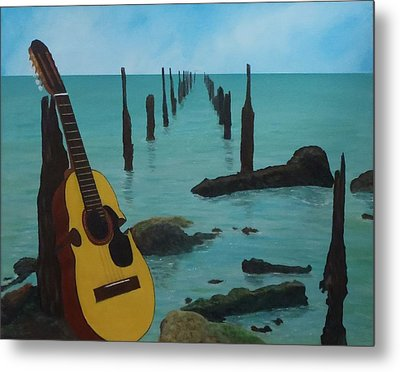 Cuatro Seascape Metal Print by Tony Rodriguez