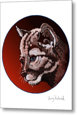 Metal Print featuring the drawing Cub by Terry Frederick