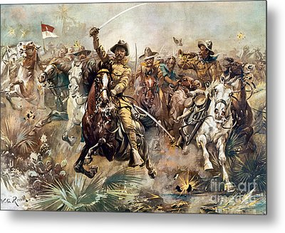Cuba: Rough Riders, 1898 Metal Print