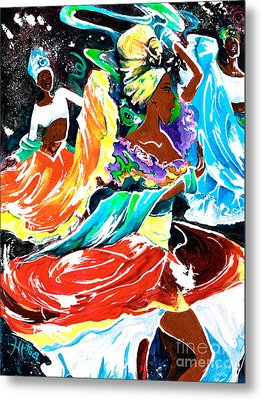 Cuban Dancers - Magical Rhythms... Metal Print