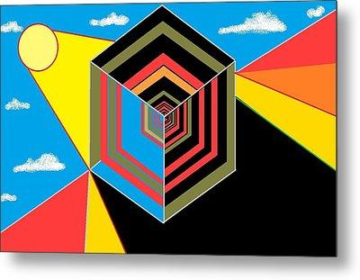 Cube Metal Print by Van Winslow