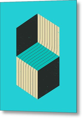 Cubes 7 Metal Print by Jazzberry Blue