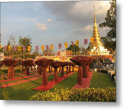 cubicles of Thai monk Metal Print by Knot Frazher