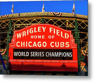Cubs Win World Series Metal Print by Andrew Soundarajan