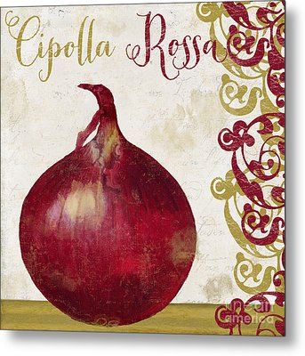 Cucina Italiana Onion Metal Print by Mindy Sommers